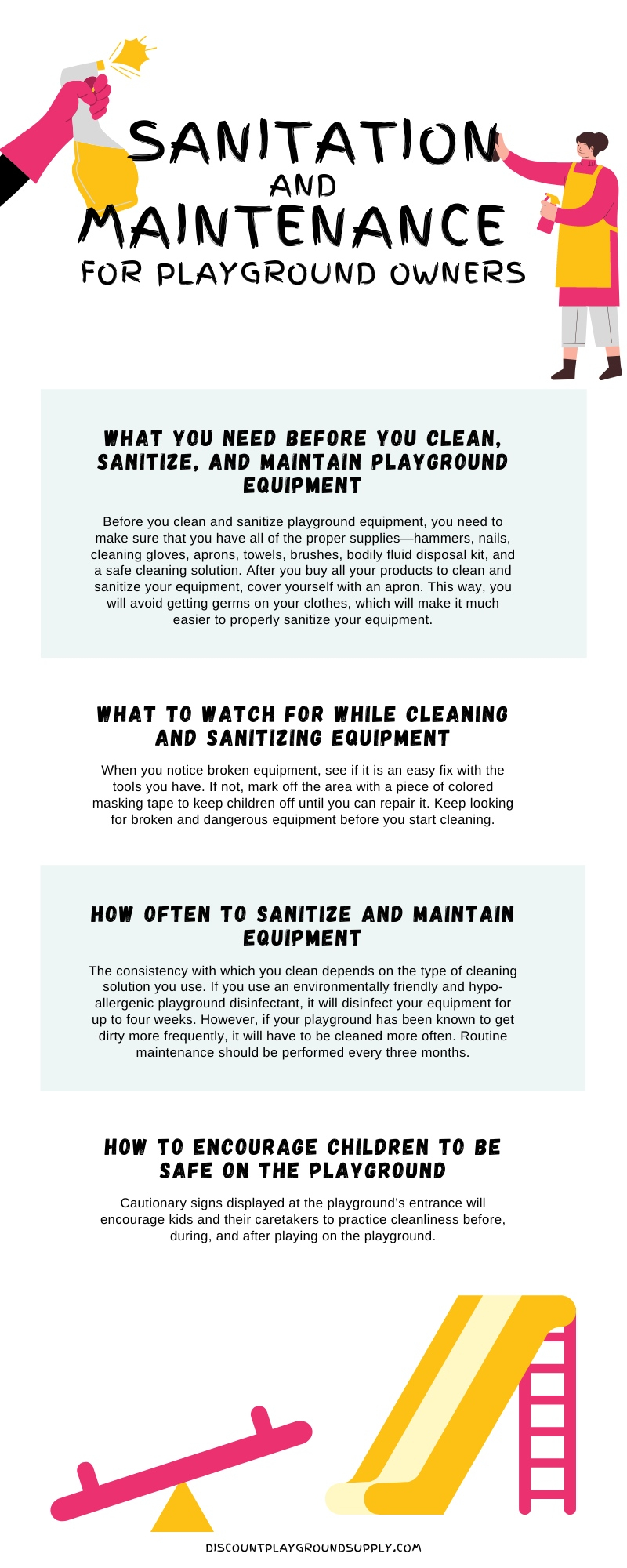 sanitation and maintenance infographic