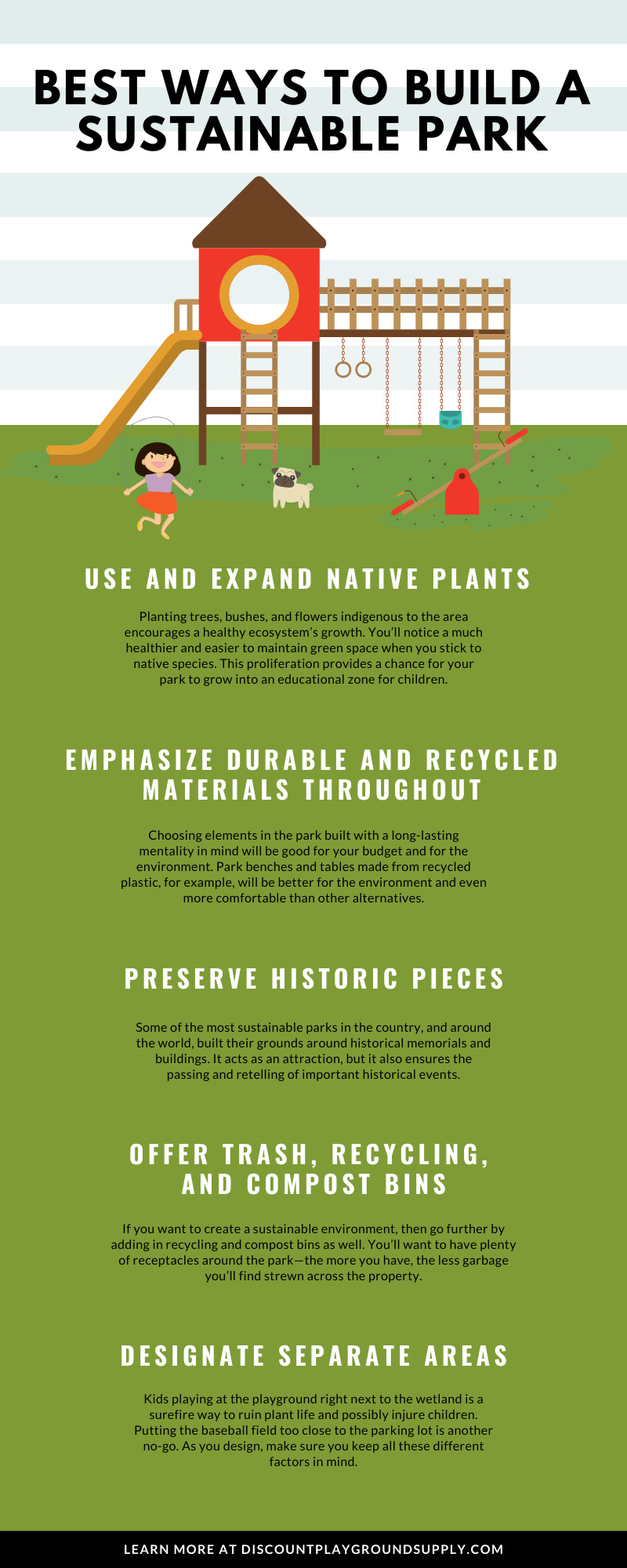 Best Ways to Build a Sustainable Park infographic