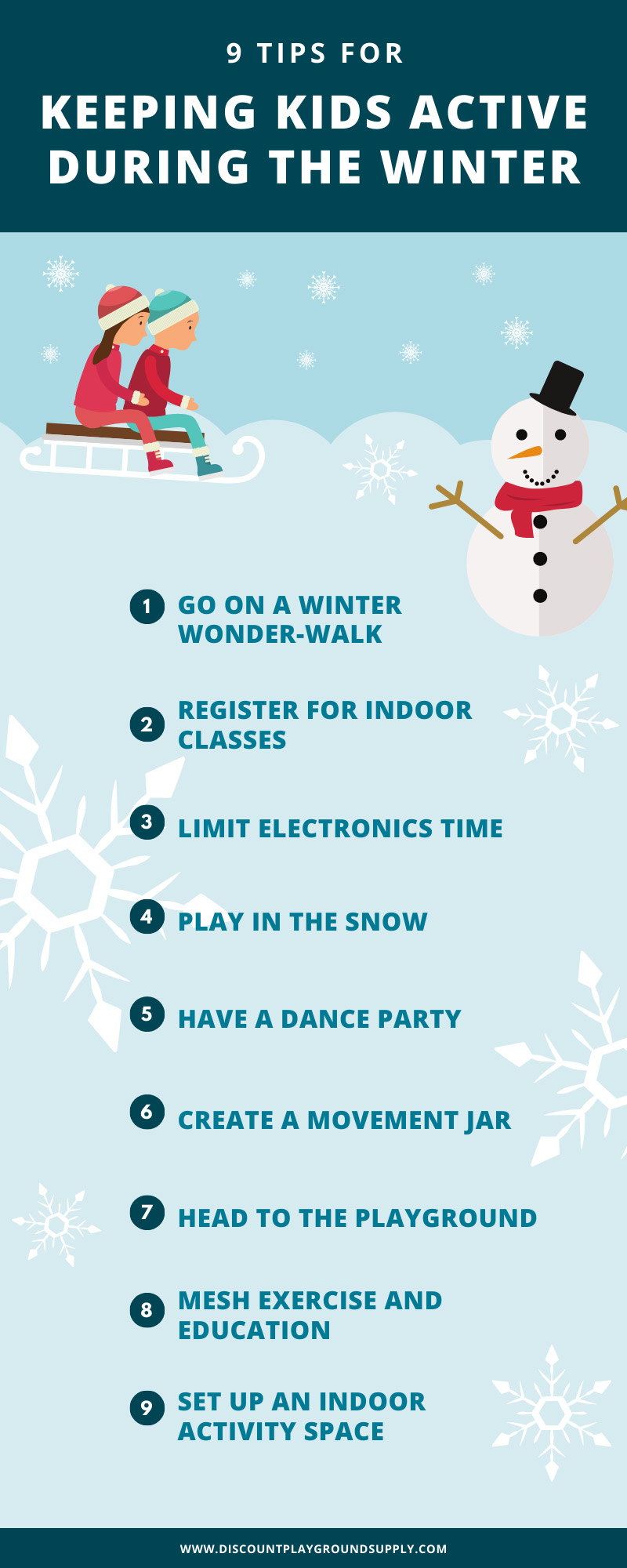 How to Keep Kids Active During the Winter